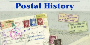 "Cover from the book ""Holocaust Postal History"" in honor of Yom HaShoah."
