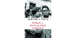 """Cover from the book """"Hunting the Truth. Memoirs of Beate and Serge Klarsfeld"""" in honor of Yom HaShoah."""