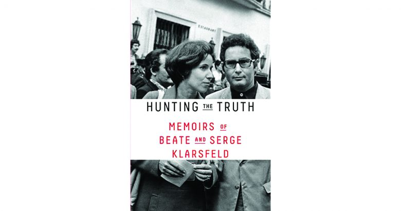 "Cover from the book ""Hunting the Truth. Memoirs of Beate and Serge Klarsfeld"" in honor of Yom HaShoah."