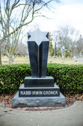 Rabbi Irwin Groner's headstone