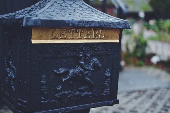 letter mailbox saying letters