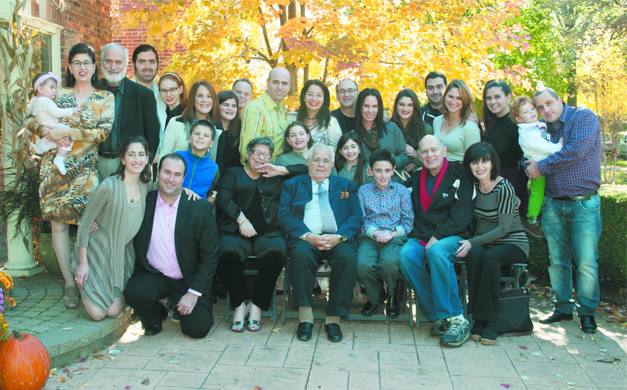 The extended Mendelson-Levine family with its three generations of doctors
