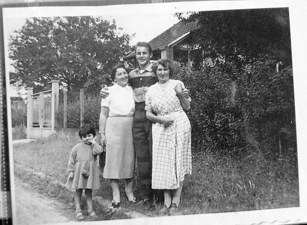 Lichtman with his two mothers, Maman Helene and Maman Nana.