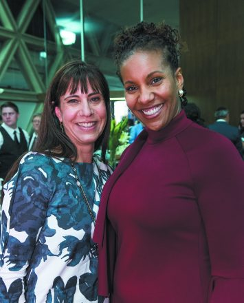 Michele Saulson with Dr. Tonya Matthews, CEO of the Michigan Science Center.
