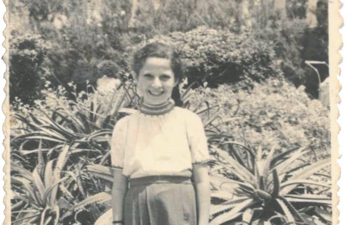 A 9-year-old Rachel on April 21,1948, at what later became known as Gan Ha'atzmaut — Independence Park