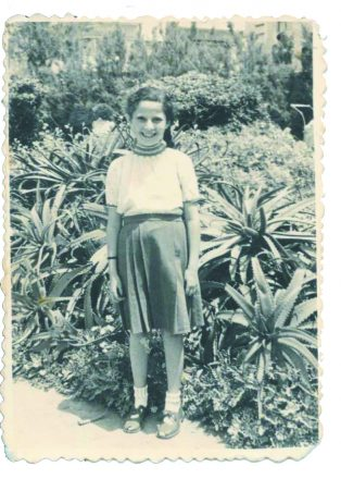 A 9-year-old Rachel on April 21,1948, at what later became known as Gan Ha'atzmaut — Independence Park in the State of Israel.