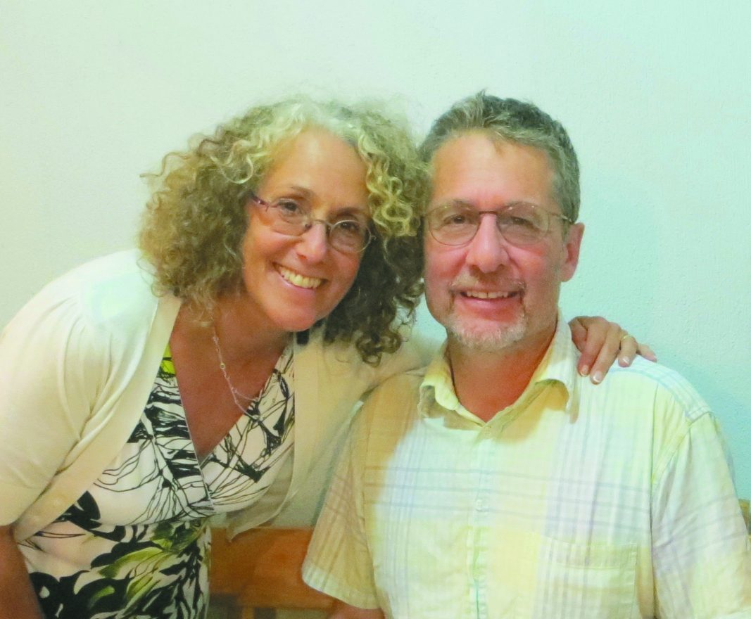 Rabbi Elyse Goldstein and her husband, Baruch Sienna