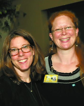 Michelle Malamis of Kadima and Kat Bergman of U-M Prechter program