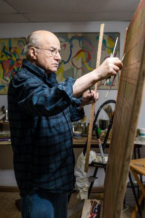 Rene Lichtman in his home studio.