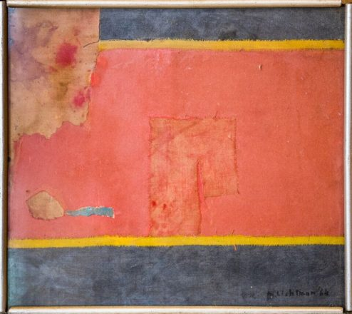 An enormous Rothko-inspired collage dated 1964.