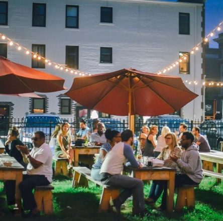 West Village biergarten Photo taken from Brut Detroit's Instagram