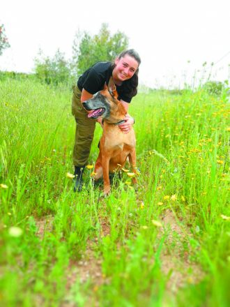 Cpl. Chloe Schwartz of West Bloomfield currently serves in the Israeli Air Force as a dog handler. She is a Lone Soldier and a 2016 graduate of Frankel Jewish Academy.