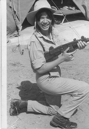 Dahlia Rosen Berkovitz of West Bloomfield served in the IDF from 1968-72.