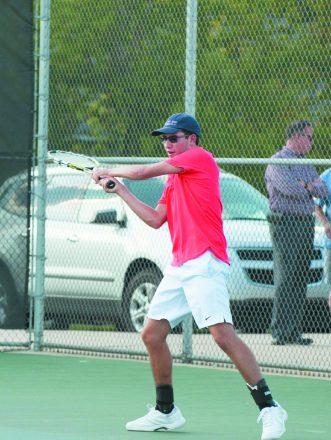 Ryan Bandalene played doubles for the Berkley High School boys tennis team for three years.