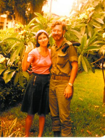 Les Goldstein of West Bloomfield (shown with his wife, Dora) served in the IDF artillery from 1975-76.