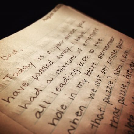 A year after her father died, Molly wrote him this letter; she continues to write him