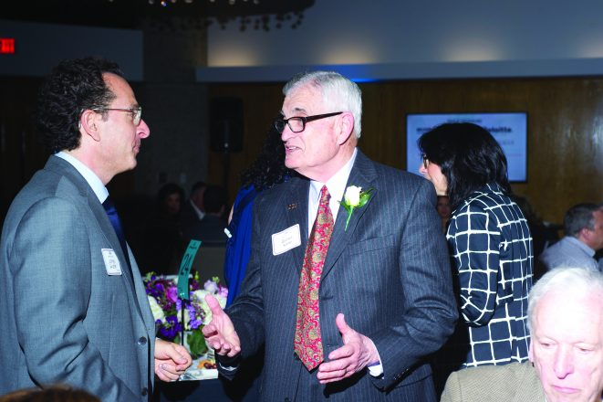 JSL Board President Lowell Salesin with 2018 Honoree George Stern
