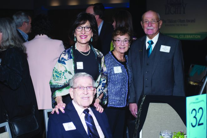 2005 Honoree Lou Berlin with daughter Joyce Weingarten and 2017 Honoree Dr. Stuart Falk with wife, Lois