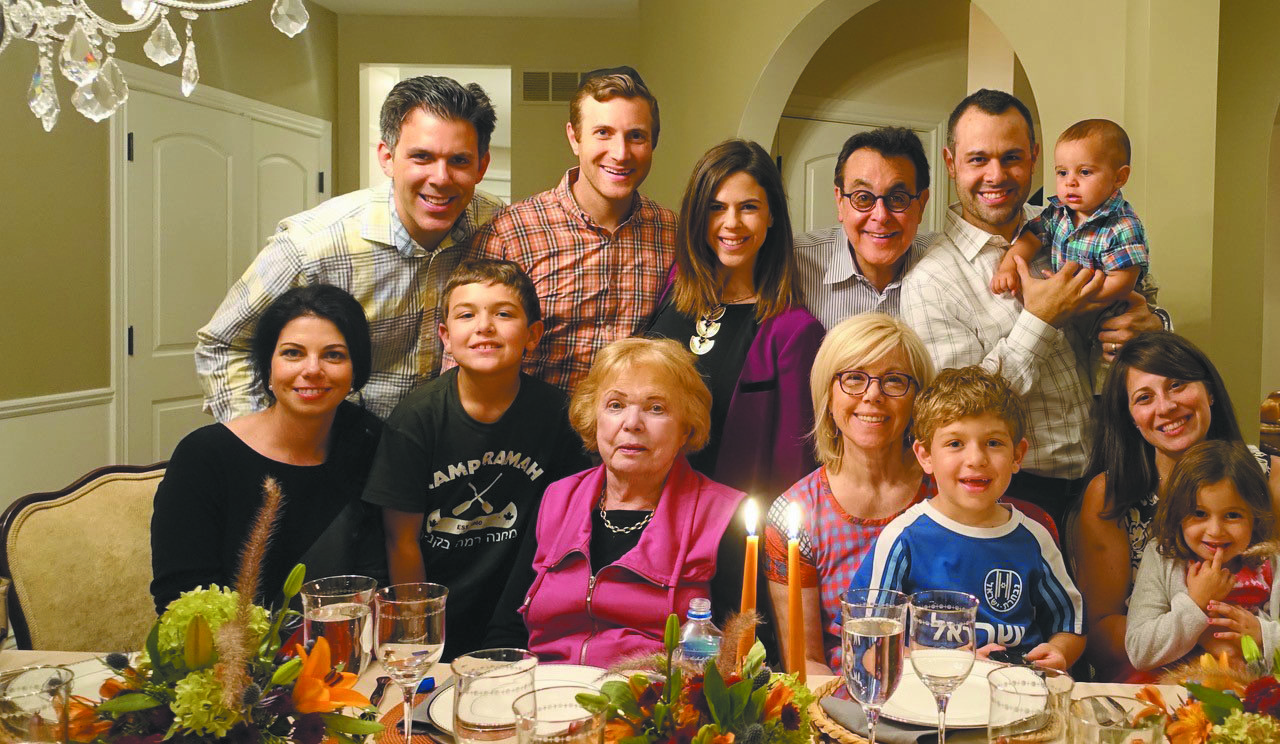 Four generations: Beatrice Gaduzk Sonders, center, with three generations of her family — all are David-Horodokers.