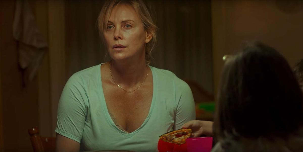 Still from the movie Tully starring Mackenzie Davis and Charlize Theron.