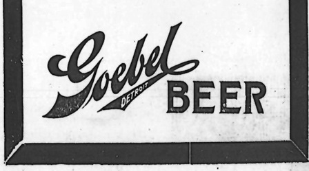 Detroit Jewish Chronicle April 7, 1916 beer ads beer ad for Goebels Beer.
