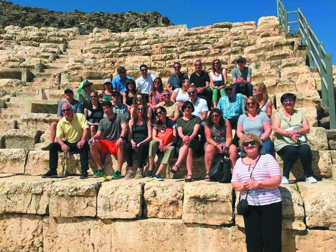 The steering committee visits Beit She'an National Park.