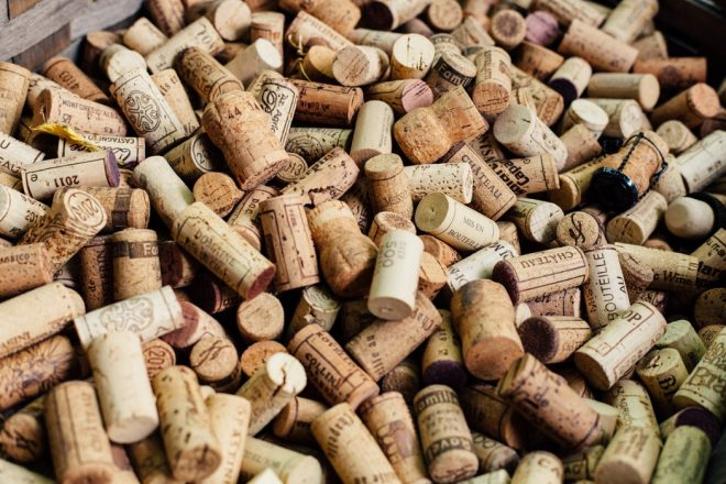 wine corks represent kosher wine