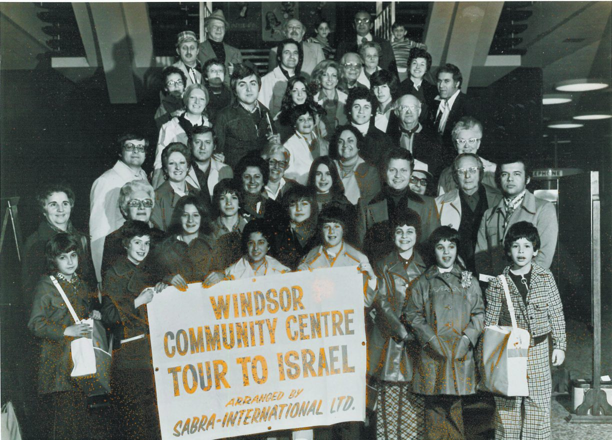 The Windsor JCC sponsored a trip to Israel in the 1970s.