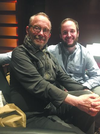 Joel Grey and Michael Yashinksy at rehearsal