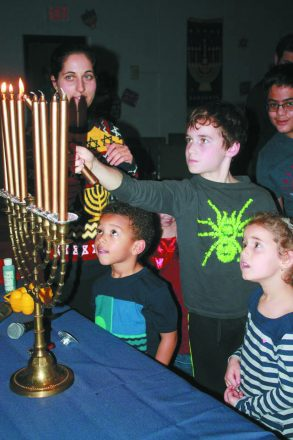 A family Chanukah party in 2015