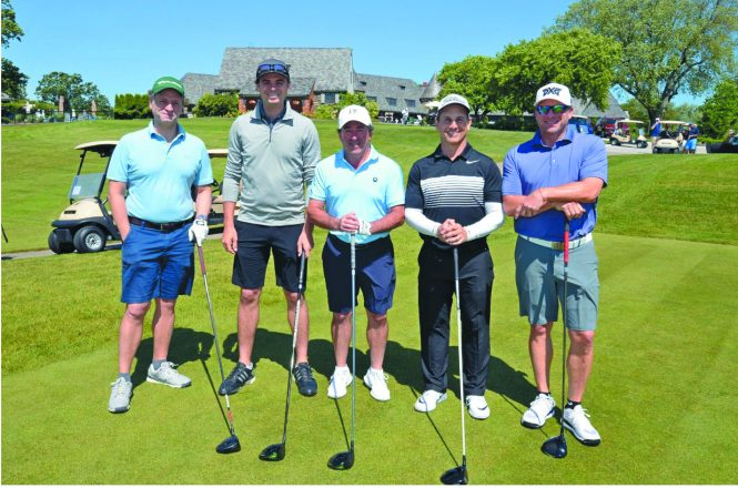 The winning team at the Greenberg Invitational included Jeremy Schaap, Peter Joelson, Jeff Shapiro, David Ruby and Brian Eisenberg.