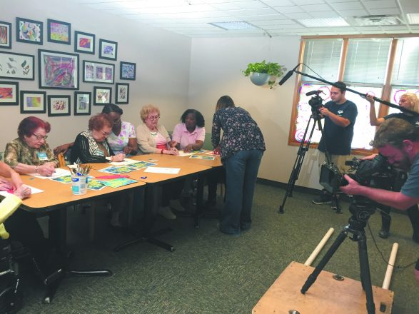 Filming at the Dorothy and Peter Brown Community Adult Day Program.