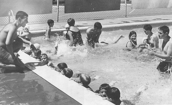 Fun at the Windsor JCC pool in the 1960s.