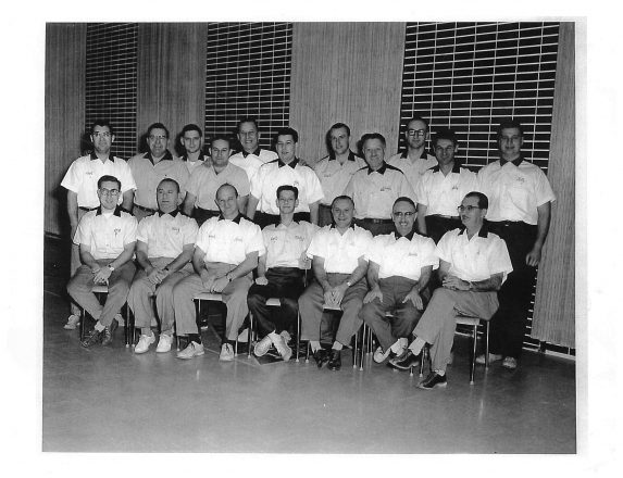 The Windsor B'nai B'rith Bowling league in the 1950s.