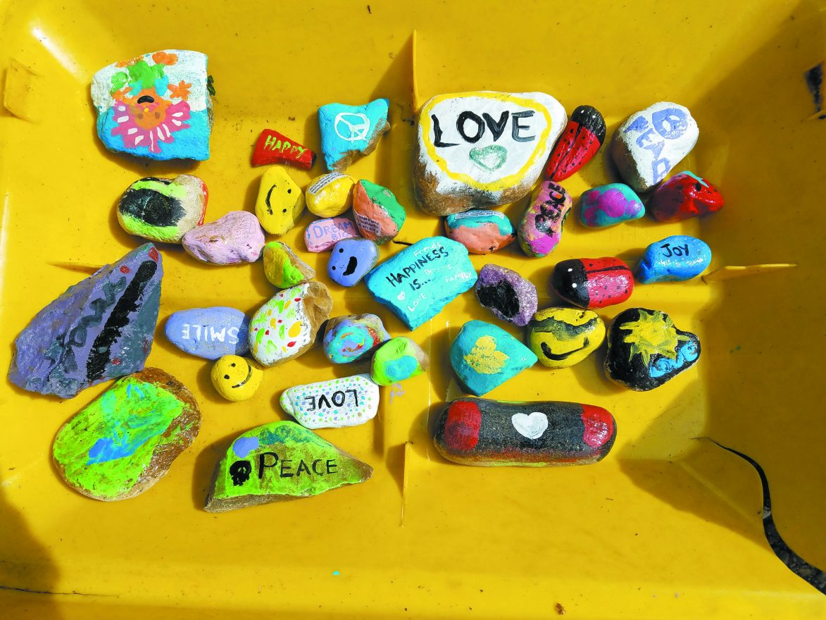 painted rocks. rock painting