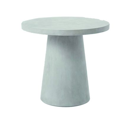 West Elm's indoor/outdoor concrete composite PEDESTAL OUTDOOR BISTRO TABLE ($499) is perfect for snacks, drinks or an alfresco dinner for two. Westelm.com.