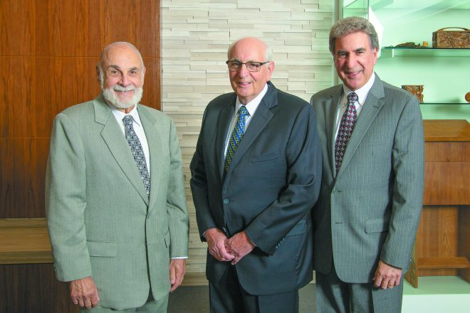 JHSM honorees: Charles Domstein, Arnold Collens and Robert Kaplow.