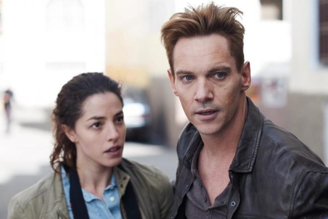 of Jonathan Rhys Meyers and co-star Olivia Thirlby.