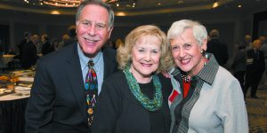 Dennis and Peggy Frank flank Mary Lou Zieve.
