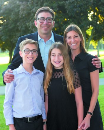 Ian Burnstein and family: Ian was honored for his work at the Dr. Gary Burnstein Community Health Clinic in Pontiac.