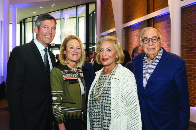 Dr. Jack and Amy Folbe with Jane and Larry Sherman. Folbe will soon be installed as FJA's 11th president of the board of trustees.