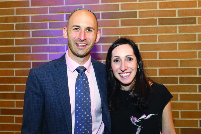 Adam Block and Ilana Goldberg Block of Huntington Woods were among the more than 350 attendees.