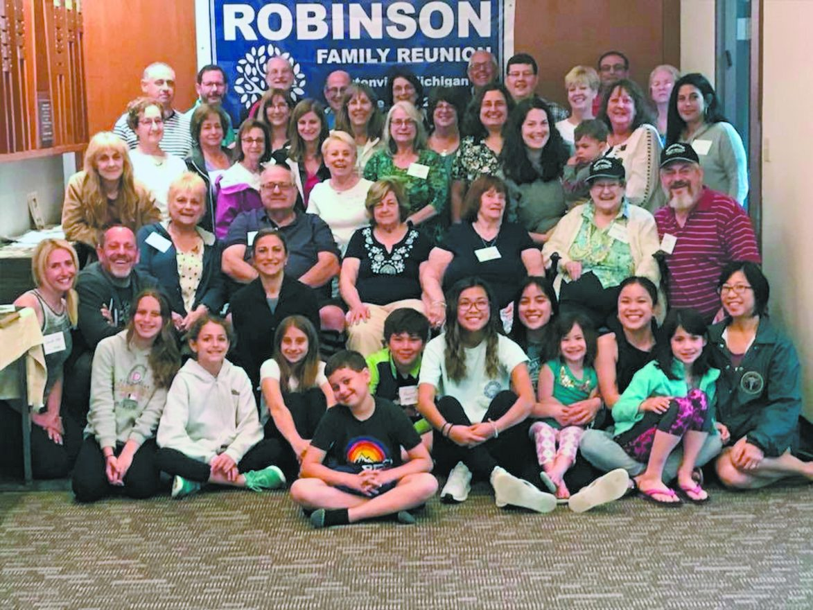 Descendants of the seven Robbins siblings from the Ukrainian shtetl of Dinovitz gathered recently for a family reunion.