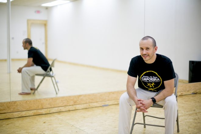 Baz Michaeli started learning capoeira at age 14 in his native Israel