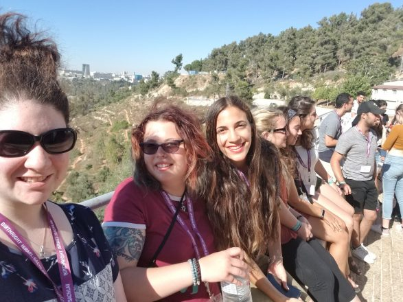 Stefani with a group of Birthright participants.