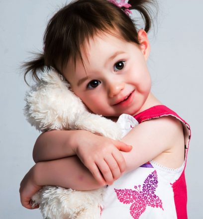 child with stuffed animal for child development and child separation