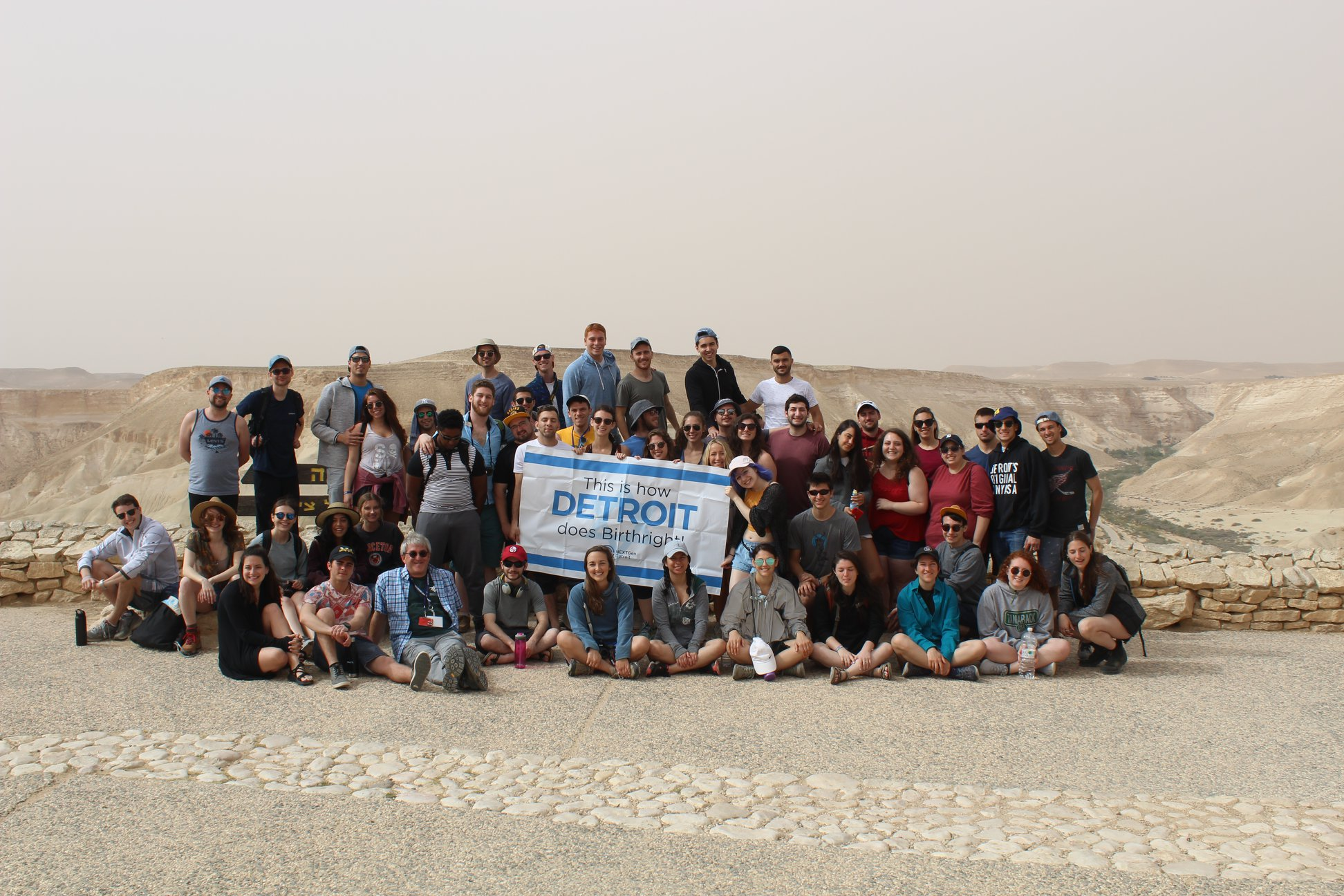 Hillel of Metro Detroit and JFMD NEXTGen's May Detroit Community Birthright trip group photo