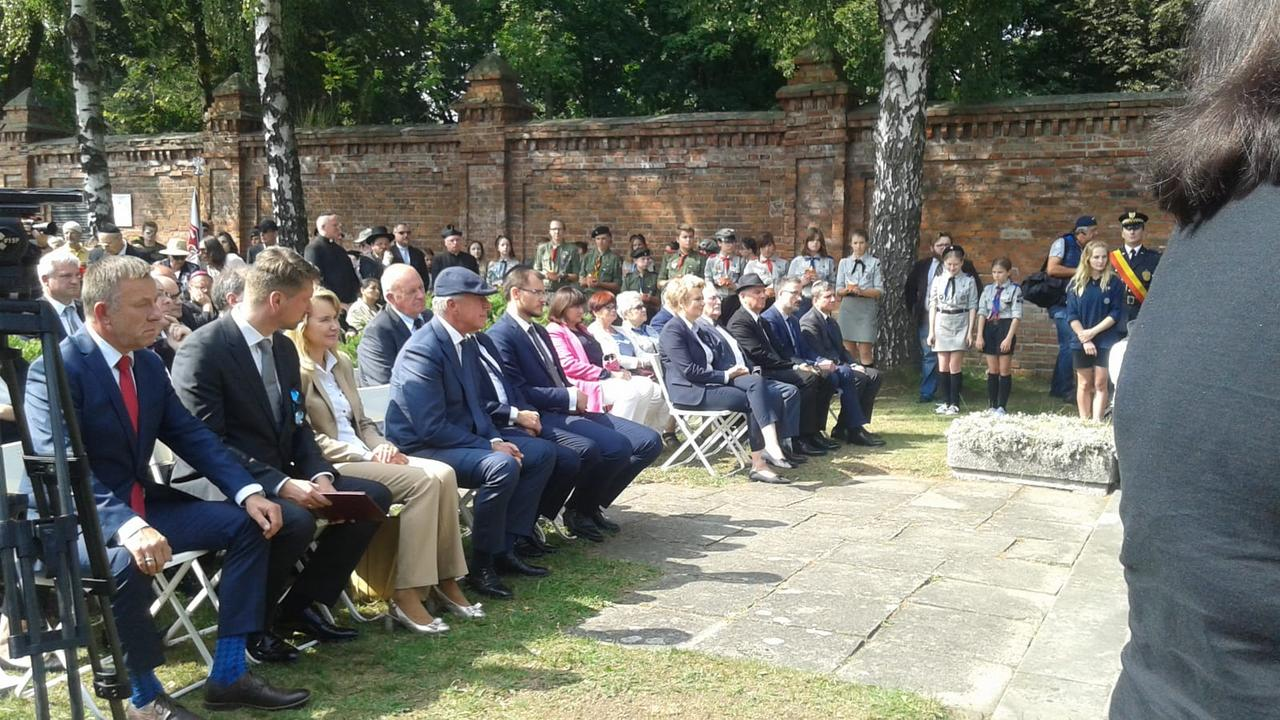 The ceremony marking the 74th anniversary of the liquidation of the Lodz Ghetto. Photo Credit: Shavei Israel
