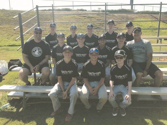 The Detroit 14U baseball team