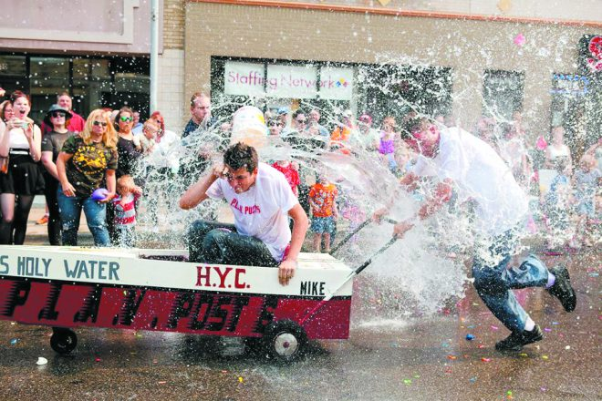 "The ""Yacht Race"" at the Hamtramck Labor Day Festival"